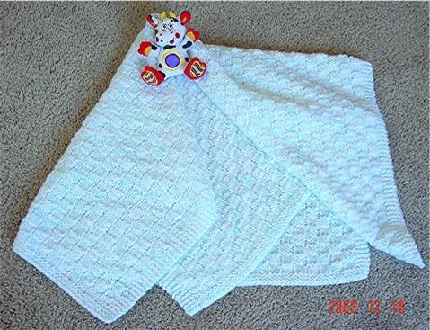 Basket Wave Baby Blanket