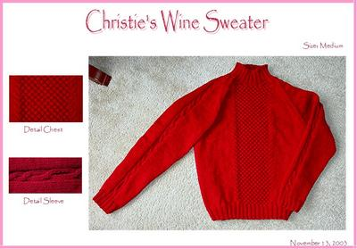 Wine Cabled Sweater