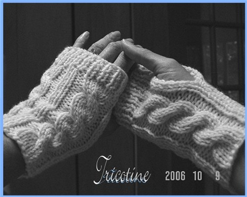 Cabled Wrist Warmers