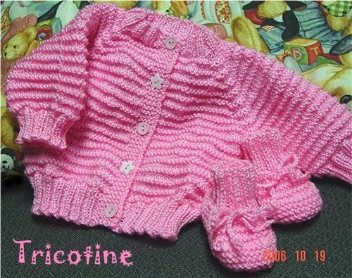 Baby Raglan Sweater + Booties