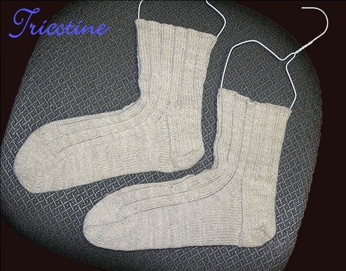 Mock <strike>Cabled</strike> Socks