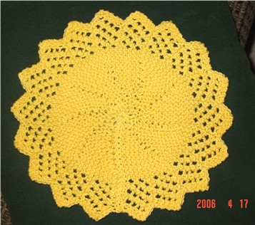 Lacy Round Face Cloth