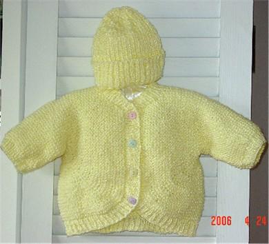 Yvette's version of the Beribboned Baby Sweater