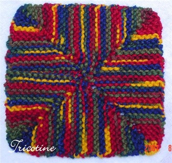 Four Corner Dishcloth turned into a 6 inches square