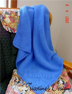 Knitting Pattern For Bassinet Blanket : Tricotine Boutique: Baby Bassinet Blanket Knitting Pattern