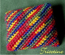Crocheted Origami Bean Bag