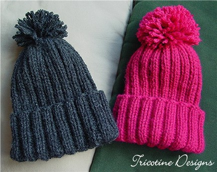FREE PATTERN: Snow Hats for Kids - Tricotine